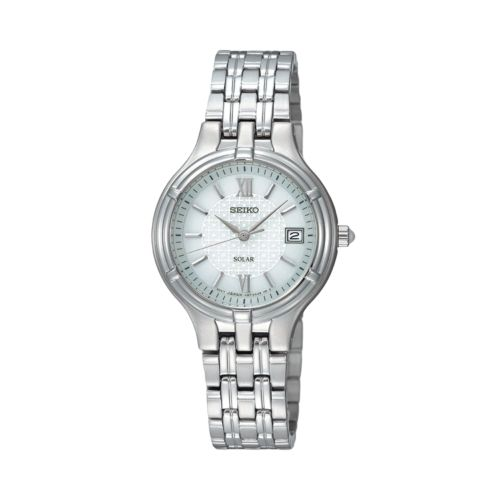 Seiko Solar Stainless Steel Watch - Women