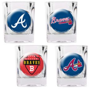 Atlanta Braves 4-pc. Square Shot Glass Set
