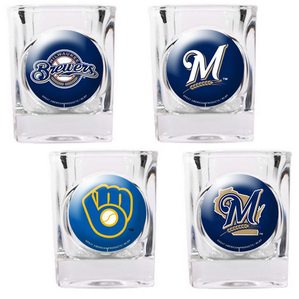 Milwaukee Brewers 4-pc. Square Shot Glass Set