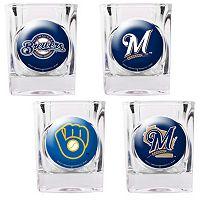 Milwaukee Brewers 4 pc Square Shot Glass Set