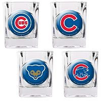 Chicago Cubs 4 pc Square Shot Glass Set