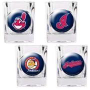 Cleveland Indians 4 pc Square Shot Glass Set