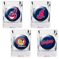 Cleveland Indians 4 pc Square Shot Glass Set