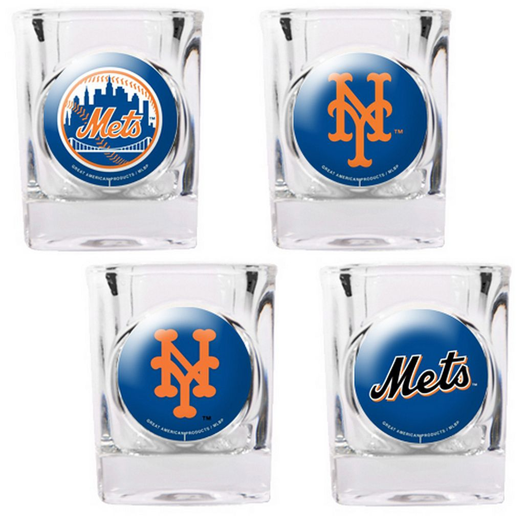 New York Mets 4-pc. Square Shot Glass Set