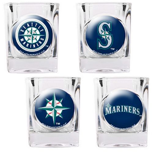 Seattle Mariners 4-pc. Square Shot Glass Set