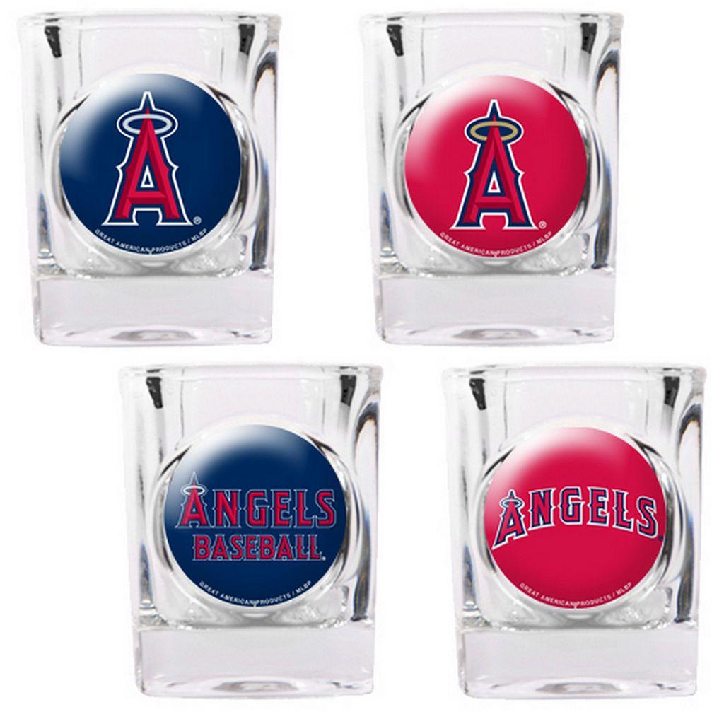 Los Angeles Angels of Anaheim 4-pc. Square Shot Glass Set