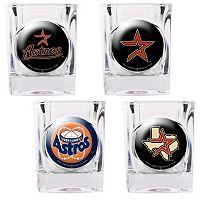 Houston Astros 4 pc Square Shot Glass Set