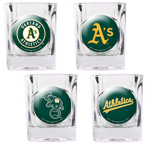 Oakland Athletics 4-pc. Square Shot Glass Set