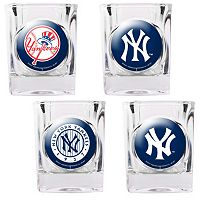 New York Yankees 4 pc Square Shot Glass Set