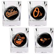 Baltimore Orioles 4-pc. Square Shot Glass Set