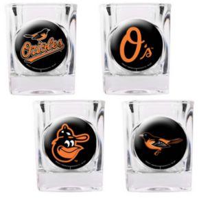 Baltimore Orioles 4-pc. Square Shot Glass Set