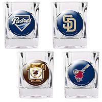 San Diego Padres 4-pc. Square Shot Glass Set