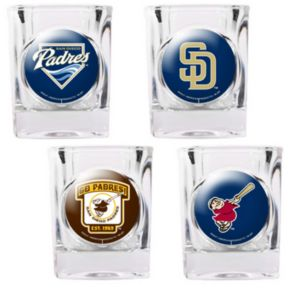 San Diego Padres 4-pc. Square Shot Glass Set