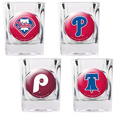Philadelphia Phillies 4 pc Square Shot Glass Set