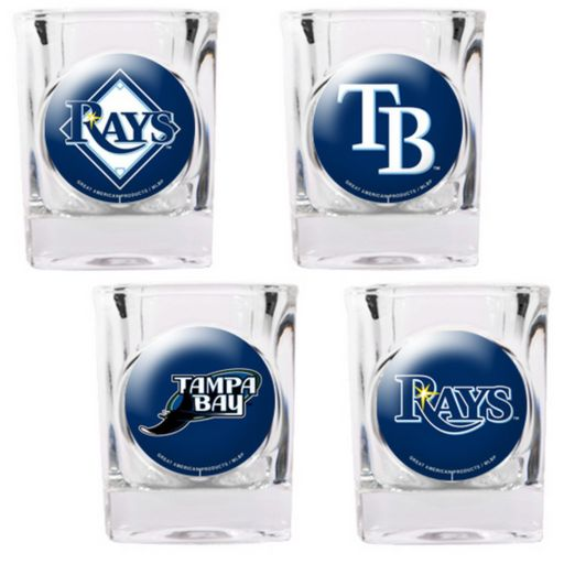 Tampa Bay Rays 4-pc. Square Shot Glass Set