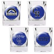 Colorado Rockies 4-pc. Square Shot Glass Set