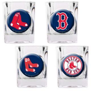 Boston Red Sox 4-pc. Square Shot Glass Set