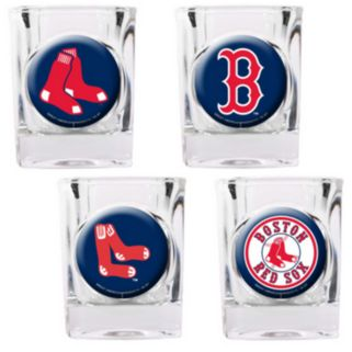 Boston Red Sox 4-pc. Square Shot Glass Set