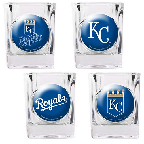 Kansas City Royals 4-pc. Square Shot Glass Set