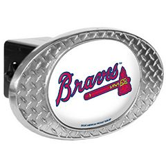 Atlanta Braves Diamond-Plate Trailer Hitch Cover