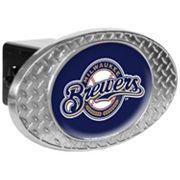 Milwaukee Brewers Diamond-Plate Trailer Hitch Cover