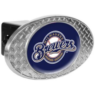 Milwaukee Brewers Diamond-Plate Trailer Hitch Cover