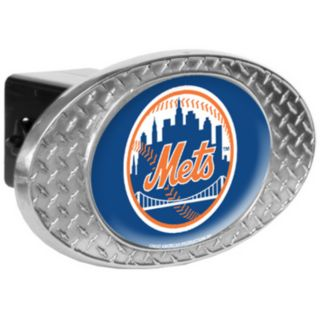 New York Mets Diamond-Plate Trailer Hitch Cover