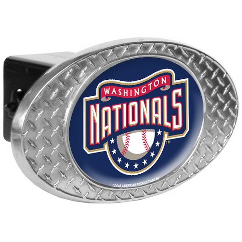 Washington Nationals Diamond-Plate Trailer Hitch Cover