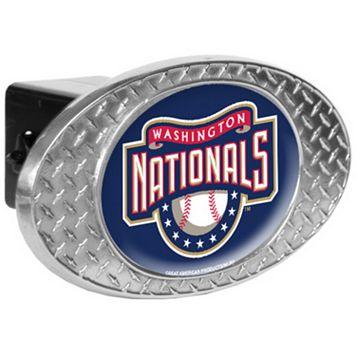 Washington Nationals Diamond-Plate Trailer Hitch Cover
