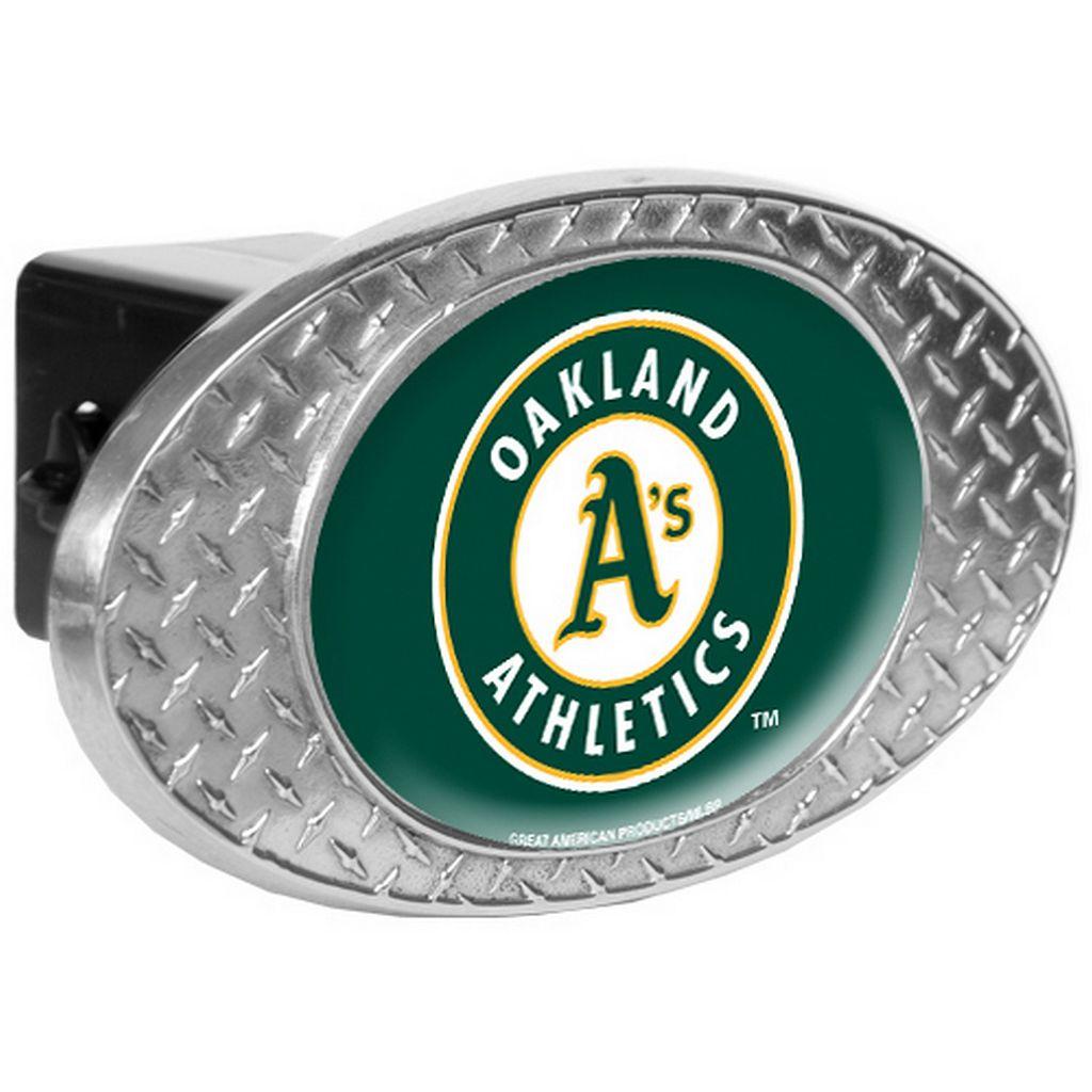 Oakland Athletics Diamond-Plate Trailer Hitch Cover