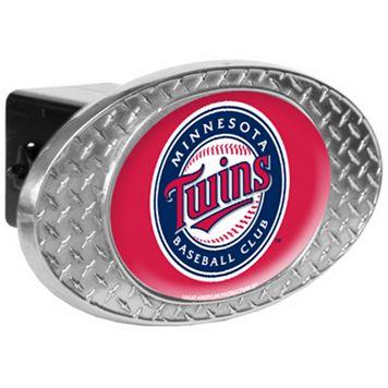 Minnesota Twins Diamond-Plate Trailer Hitch Cover