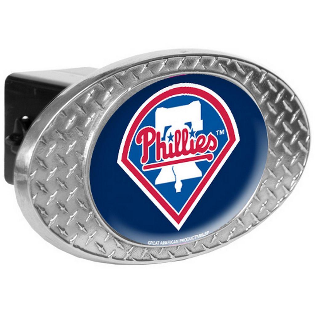 Philadelphia Phillies Diamond-Plate Trailer Hitch Cover