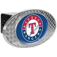 Texas Rangers Diamond-Plate Trailer Hitch Cover
