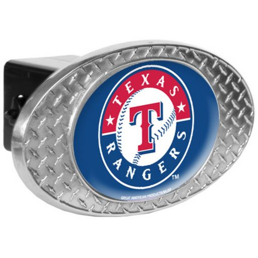 Texas Rangers Diamond-Plate Trailer Hitch Cover