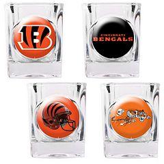 Cincinnati Bengals 4 pc Square Shot Glass Set