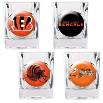 Cincinnati Bengals 4-pc. Square Shot Glass Set