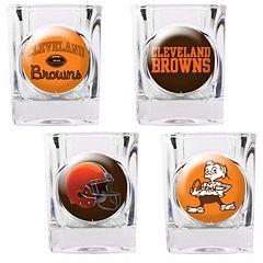 Cleveland Browns 4 pc Square Shot Glass Set