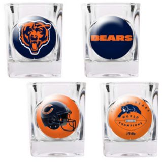 Chicago Bears 4-pc. Square Shot Glass Set