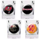 Tampa Bay Buccaneers 4 pc Square Shot Glass Set