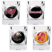 Tampa Bay Buccaneers 4 pc Square Shot Glass Set
