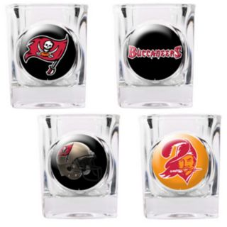 Tampa Bay Buccaneers 4-pc. Square Shot Glass Set