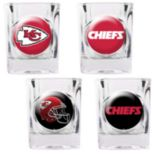 Kansas City Chiefs 4-pc. Square Shot Glass Set