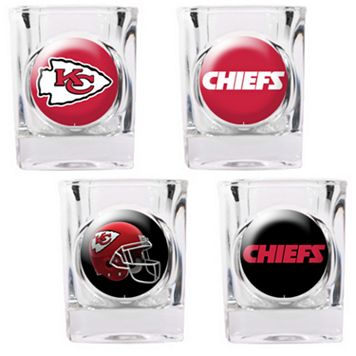Kansas City Chiefs 4-pc. Square Shot Glass Set