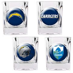 San Diego Chargers 4-pc. Square Shot Glass Set