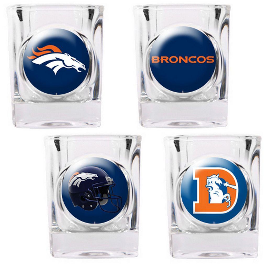 Denver Broncos 4-pc. Square Shot Glass Set