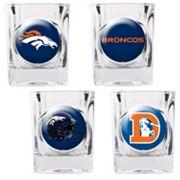 Denver Broncos 4 pc Square Shot Glass Set