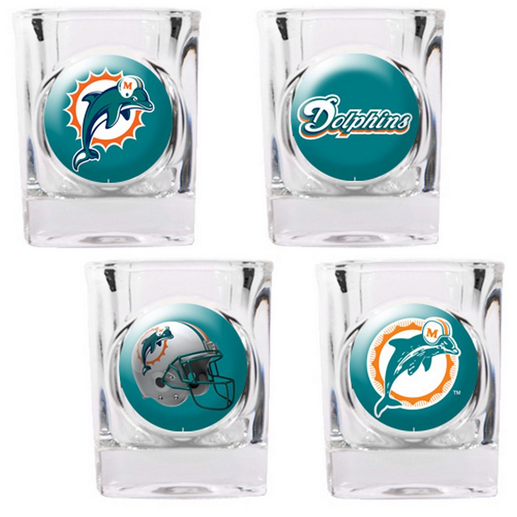 Miami Dolphins 4-pc. Square Shot Glass Set