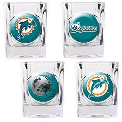 Miami Dolphins 4 pc Square Shot Glass Set