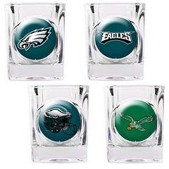 Philadelphia Eagles 4 pc Square Shot Glass Set