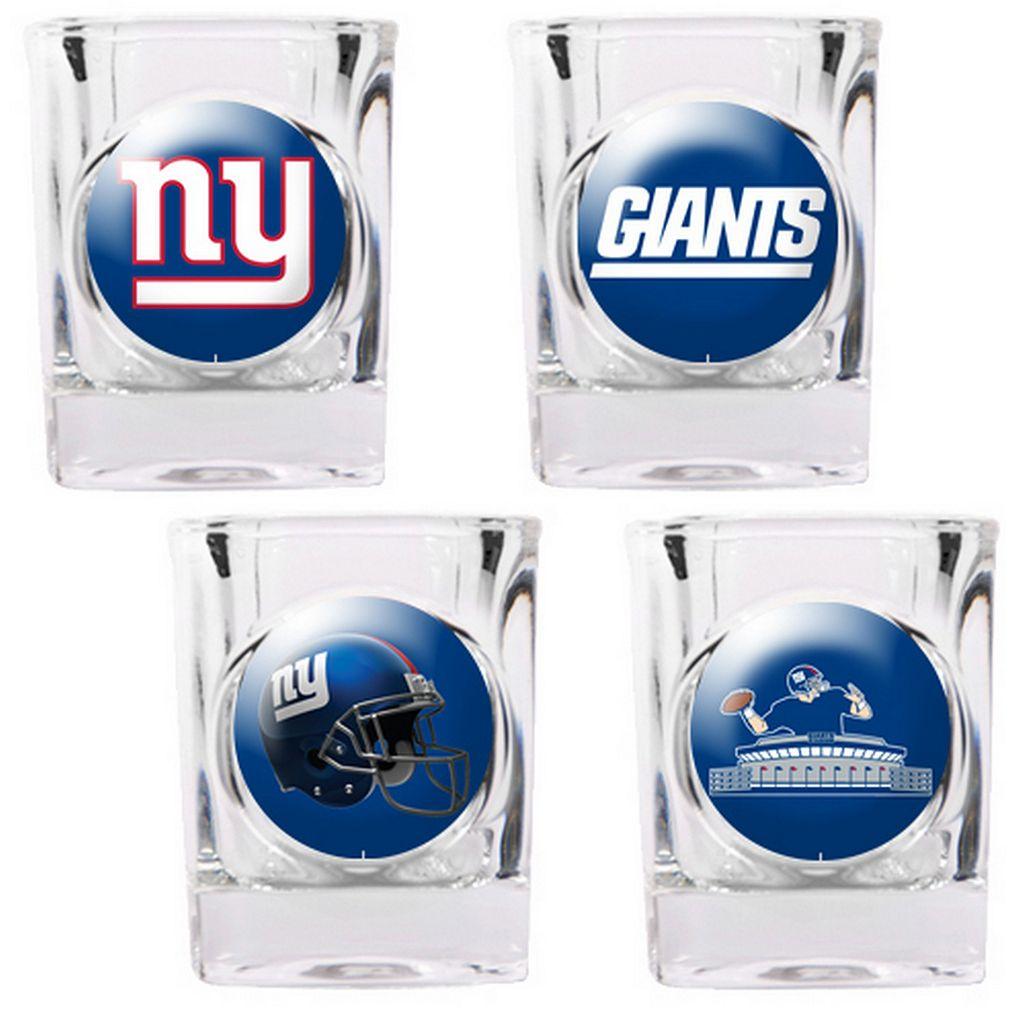 New York Giants 4-pc. Square Shot Glass Set